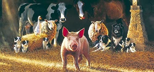 Gibsons Piggy in der Mitte Puzzle. (636 ück)