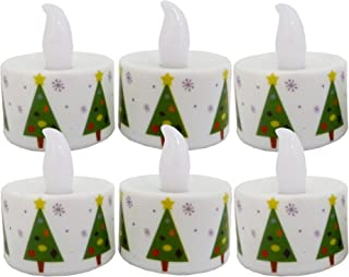 Biedermann & Sons LED Holiday Tree Tea Lights, Multi-Color, Box of 6
