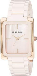 Anne Klein Women's AK/2952LPRG Rose Gold-Tone and Light Pink Ceramic Bracelet Watch