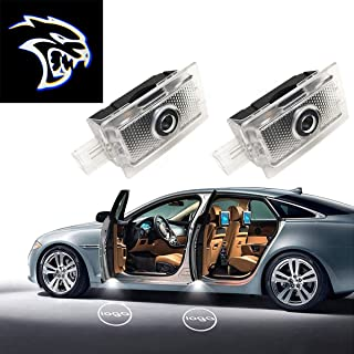 Eastfly Car Door LED Logo for Dodge Projector Ghost Shadow Charger Avenger Magnum, Entry Welcome Lamp Logo Light, LED Courtesy Step Lights Ground Lamp Kit Replacement