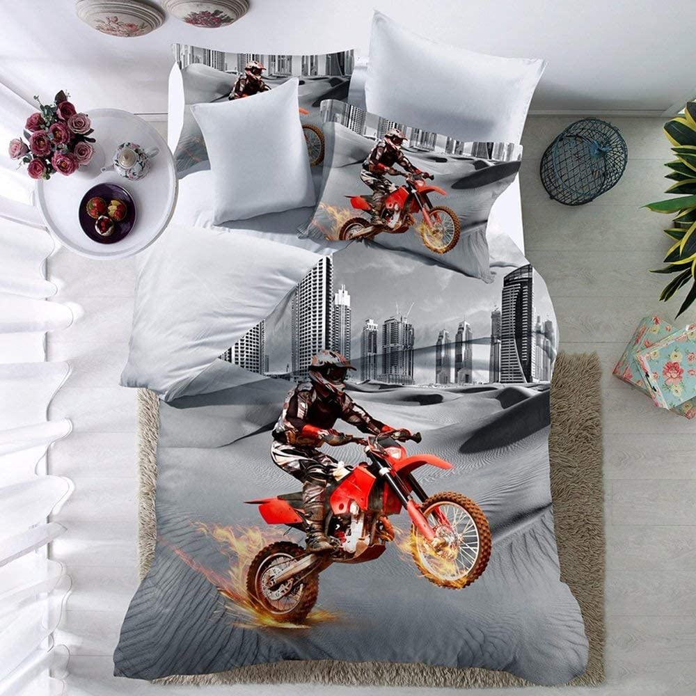 THEE Twin Bed Sets for Boys Sale New mail order Co Bedding Bike Motocross Dirt Duvet