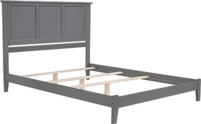 Atlantic Furniture AR8641039 Madison Wood Bed Queen Atlantic Grey