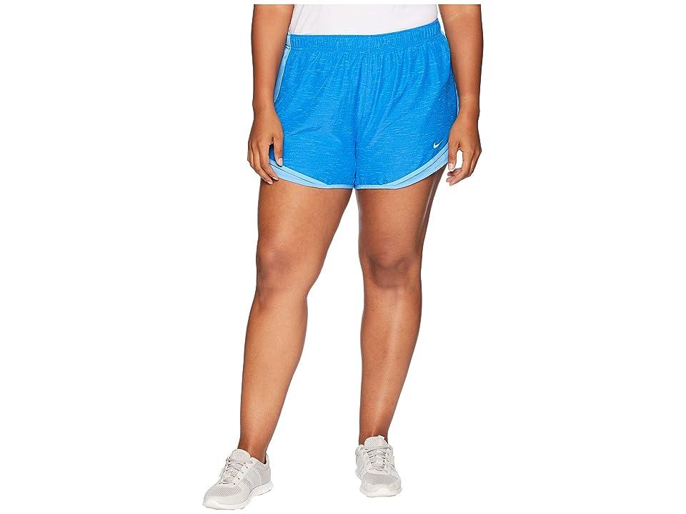 Nike Dry Tempo 3 Running Short (Size 1X-3X) (Signal Blue/Signal Blue/Wolf Grey) Women
