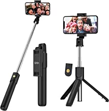 Gritin Selfie Stick, 3 in 1 Bluetooth Selfie Stick Tripod, Extendable and Portable Selfie Stick with Detachable Wireless Remote & Stable Tripod Stand, Compatible with iPhone/Galaxy/Huawei, etc.