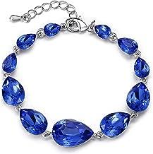 BriLove Women's Wedding Bridal Crystal Multi Teardrop Bracelet