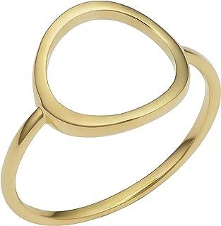 KoolJewelry 14k Yellow Gold 12 mm Open Circle Karma Ring
