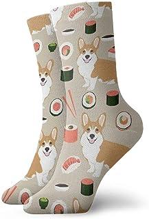 yting, Niños Niñas Loco Divertido Sushi japonés Divertido Corgi Perros Calcetines lindos del vestido de la novedad