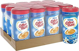 COFFEE MATE French Vanilla Powder Coffee Creamer 15 Oz. Canister Non-dairy, Lactose Free, Gluten Free Creamer - PACK OF 24