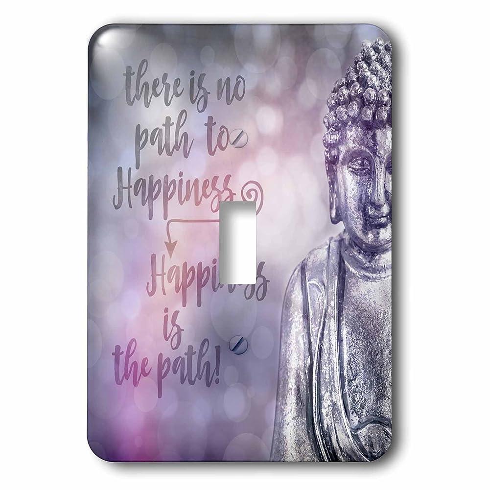 彼ら参照大惨事3drose Andrea Haase Inspirational Typography?–?Buddha with Wisdom wordsパスがないto Happiness?–?照明スイッチカバー?–?シングルトグルスイッチ(LSP 268338?_ 1?)