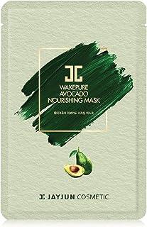 JAYJUN Wakepure Avocado Nourishing Mask, 25ml, 0.84 fl. oz, Pack of 10 Sheets, Avocado, Radiance, Sheet Mask