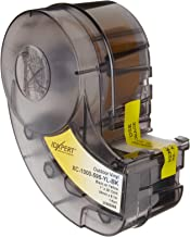 "Brady XC-1000-595-YL-BK IDXPERT(TM) & LABXPERT(TM) Labels  B- 595 Indoor/Outdoor Vinyl Film Black on Yellow, Printable Area: 19.000"" W x 1.000"" H 1 roll (30ft.)/Cartridge"