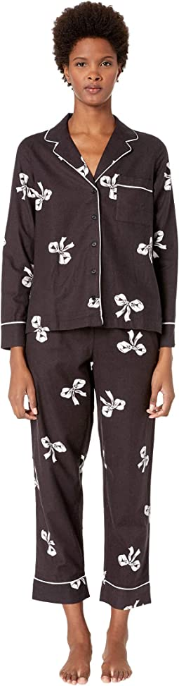 Brushed Twill Long Pajama Set