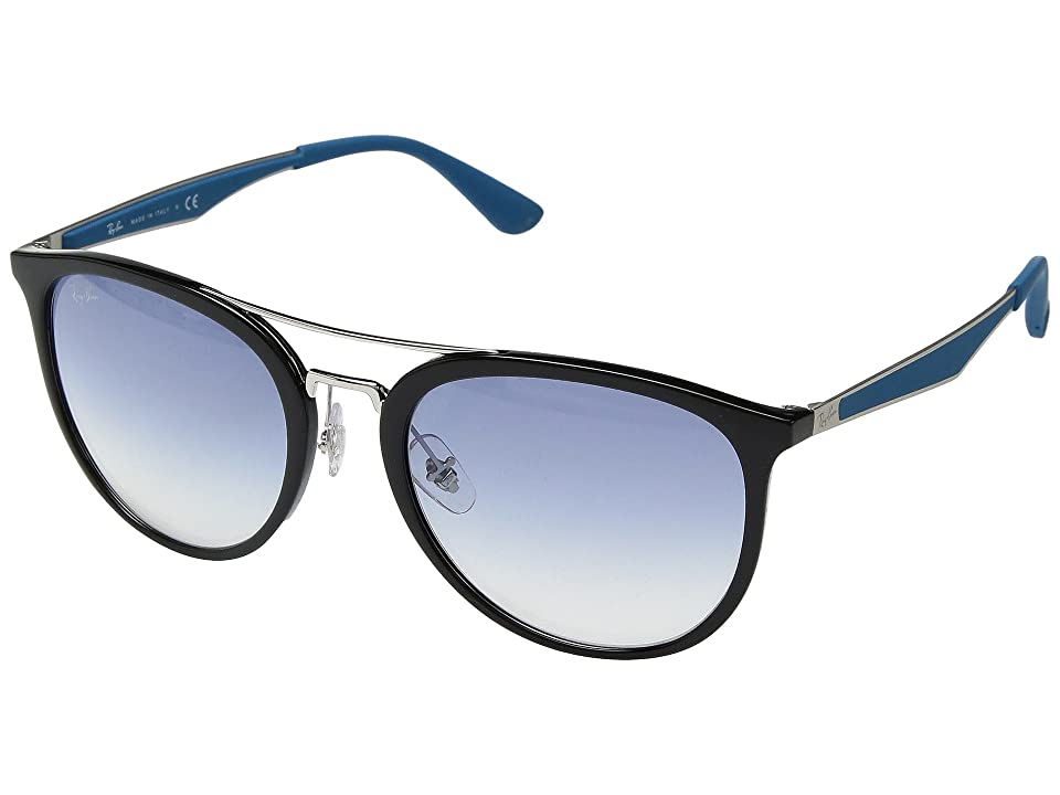 Ray-Ban RB4285 55mm (Black/Clear Gradient Light Blue) Fashion Sunglasses