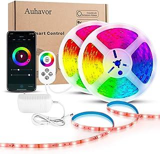 Auhavor Alexa LED Strip Light for Bedroom 16.4 FT RGB Tape Light 150 LEDs Smart Phone WiFi Touch-Sense Control-pad Led Tape Light Multicolor RGB LED Strip Work with Alexa Google App Assistant