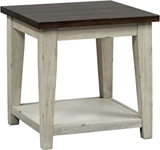 Liberty Furniture Industries Lancaster End Table, W24 x D24 x H24, Dark Brown