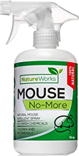 Mouse No More I Mice Repellent Spray I Mice Rat & Squirrel Deterrent I Car & RV Defense | Natural Organic Peppermint Oil | Indoor + Outdoor | Pet Safe (16oz)