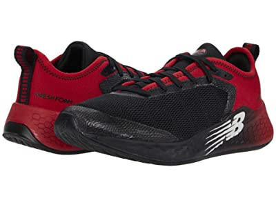 New Balance Kids Fresh Foam Fast v2 (Little Kid/Big Kid) (Black/Energy Red) Boy