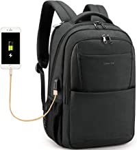 Tigernu Business Laptop Backpack,Travel Anti Theft Slim Computer Backpacks with USB Charging Port,Water Resistant Large College School Bags for Men/Women Fits Laptop & Notebook up to 15.6inch,Black