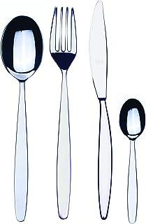 Mepra 103822024 Flatware Set, [24 Piece, Metallic Finish, Dishwasher Safe Cutlery