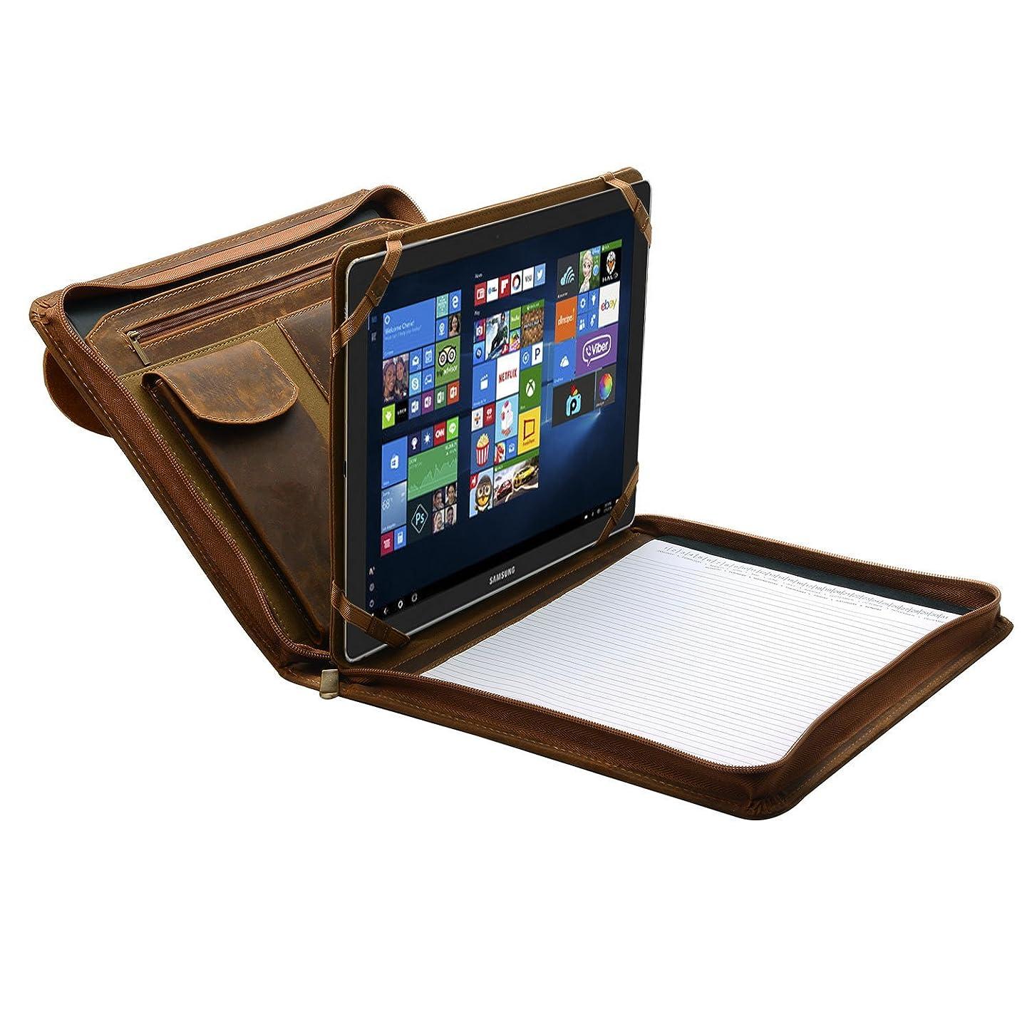 Samsung Portfolio Case, Organizer Padfolio with Large Pouch Pocket,for Samsung Galaxy TabPro S 12