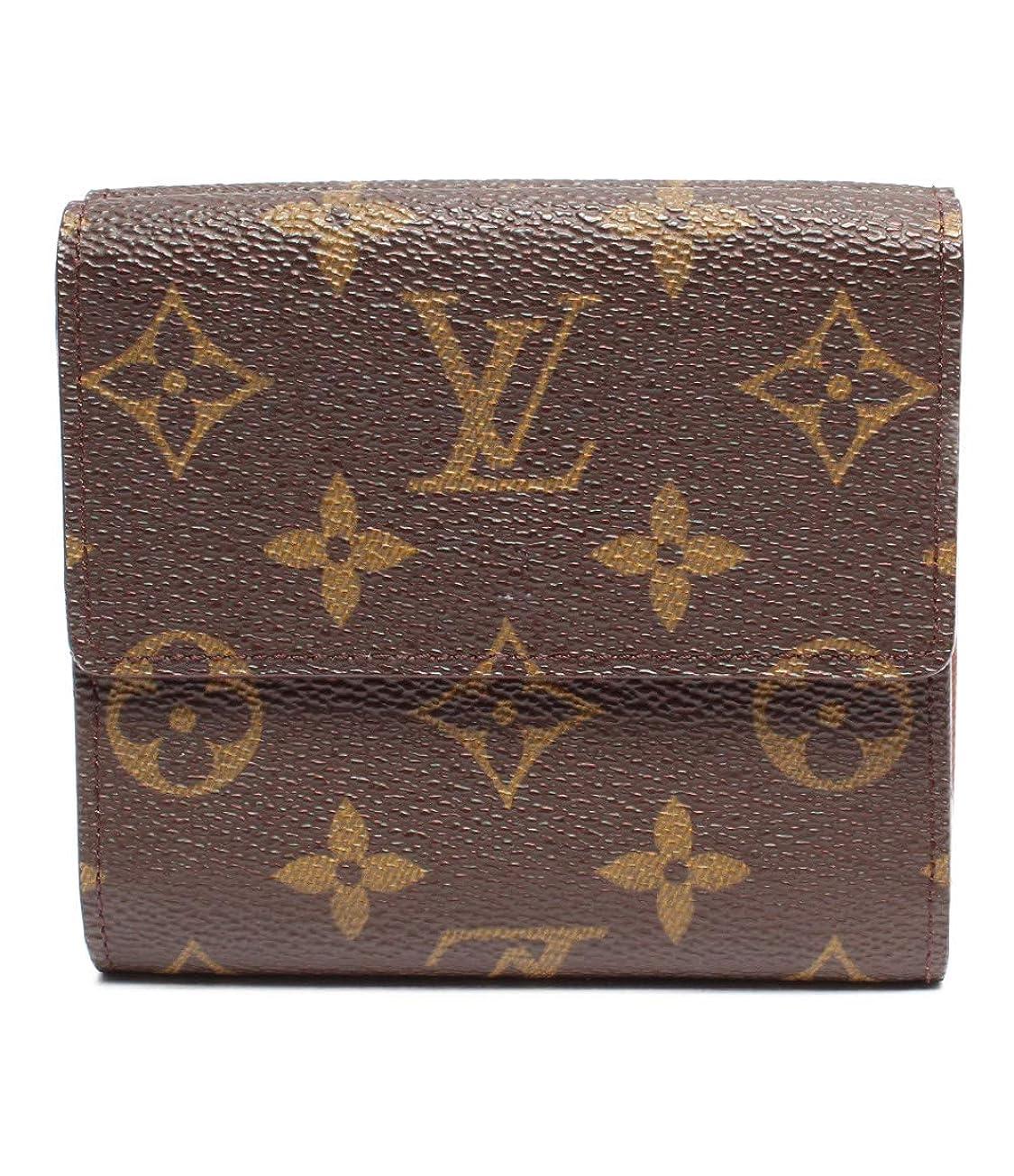 音コンテンポラリー祈るルイヴィトン 二つ折り財布 ポルトモネ カルトクレディ モノグラム M61652 レディース Louis Vuitton 中古