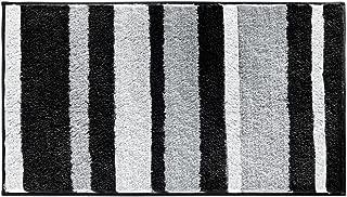 iDesign Microfiber Stripes Bathroom Shower Accent Rug - 34