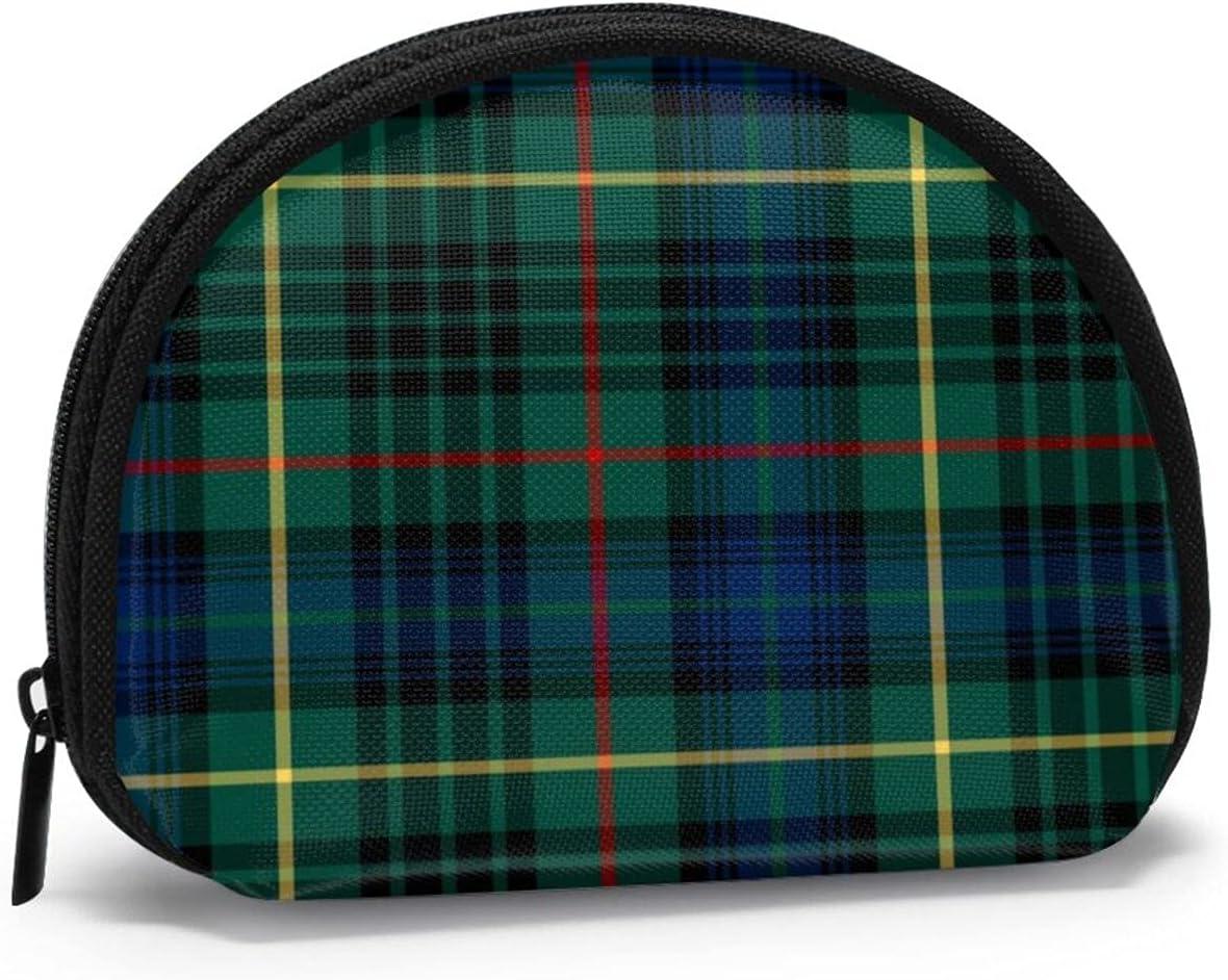 small zipper Coin Purses Vintage zipper Pouch Change Purse Wallets Stewart Clan Hunting Tartan