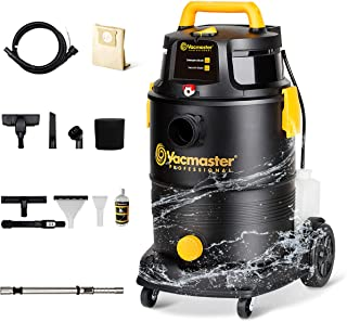 Vacmaster Wet Dry Shampoo Vacuum Cleaner 3 in 1 Portable Carpet Cleaner 8 Gallon 5.5 Peak HP Power Suction Washable HEPA F...
