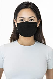 Face Mask Reusable Unisex One Size Fashion Made in USA (Same Day Shipping) (Black)