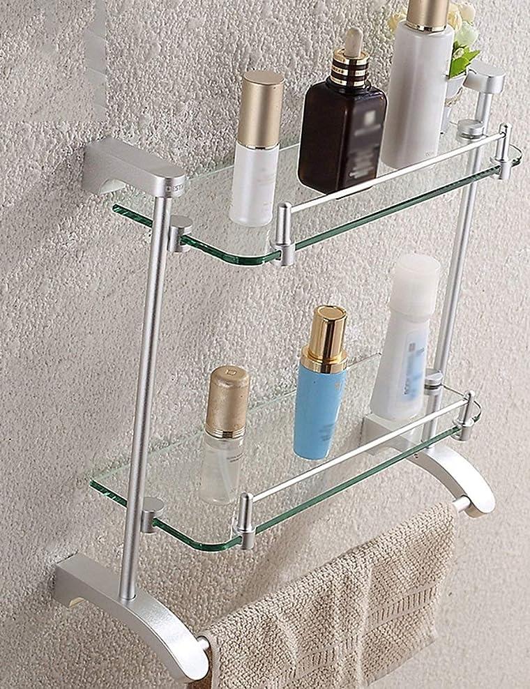 鋼帳面サバントBXU-BG きれいに棚簡単のAセット付きのバスルームラックバスルームダブルガラス棚タオルラック