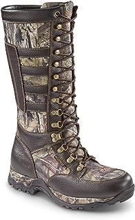 Men's Leather Snake Boots, Waterproof, Side Zip