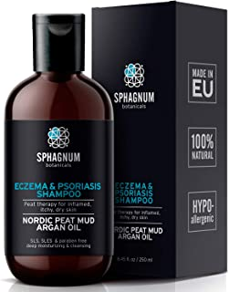 Natural Eczema and Psoriasis Shampoo - Peat Mud Treatment 100% Free from Cancerous Coal Tar. Sulfate Free, Itchy Scalp Relief, Anti Dandruff & Dermatitis. Deep Moisturizing & Cleansing With Argan Oil…