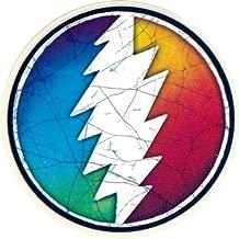 Grateful Dead Rainbow Lightening Bolt - Small Bumper Sticker / Decal (2.25