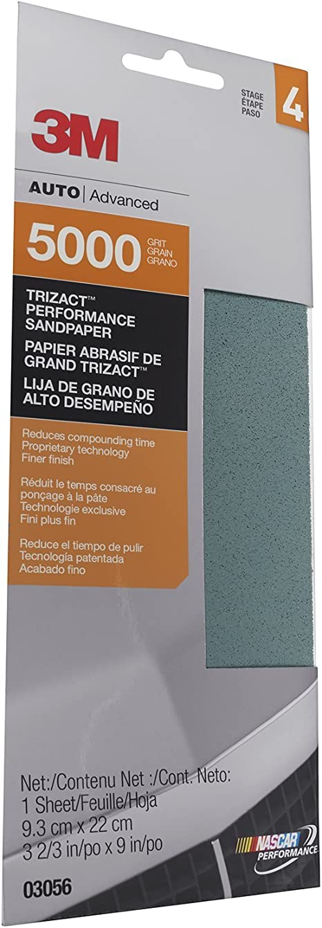 "50 sheets FINE Sandpaper Wet //Dry 3""x 5 1//2/"" COMBO 1500//2000//2500//3000//5000 Grit"