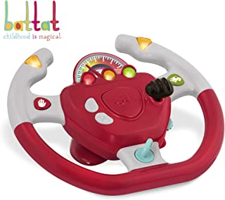 Battat – Geared to Steer Interactive Driving Wheel – Portable Pretend Play Toy Steering Wheel for Kids 2 years +