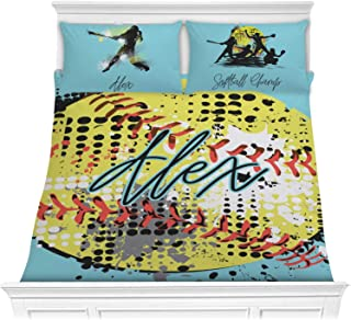 YouCustomizeIt Softball Comforter Set - Full/Queen (Personalized)