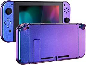 eXtremeRate Chamillionaire Glossy Back Plate for Nintendo Switch Console, NS Joycon Handheld Controller Housing with Full ...