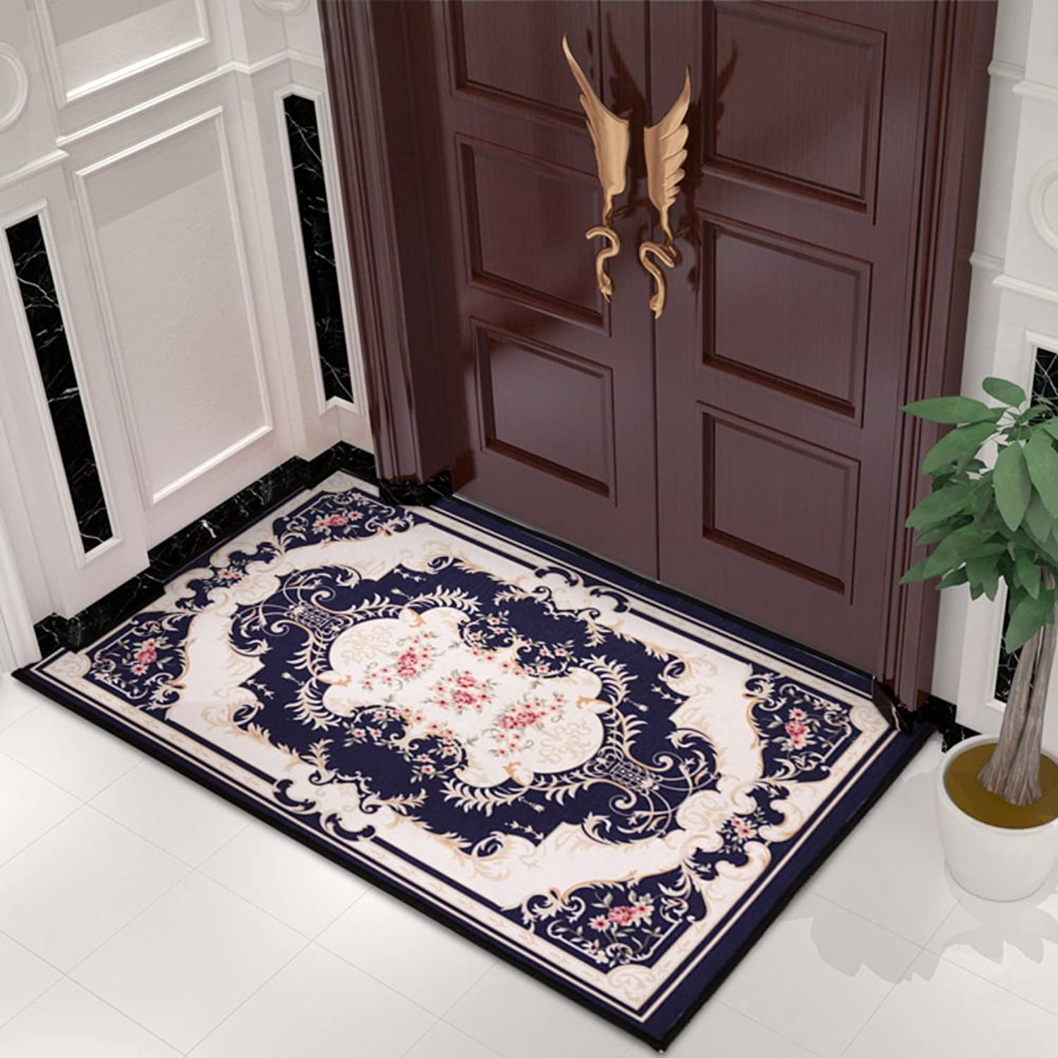 Doormat Carpet Doormat Door,Entrance,[Hall],Household use,[Bathroom],Indoor mats Living Room,Bedroom mats [Absorbent],Anti-skidding-J 90x140cm(35x55inch)