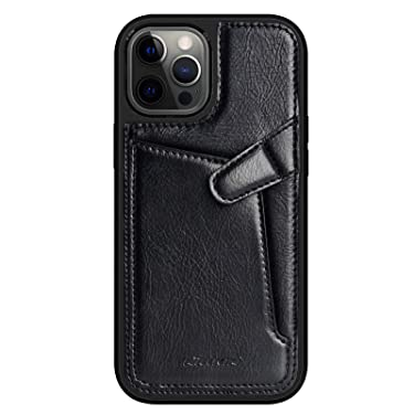 """Nillkin Case for Apple iPhone 12 Pro Max (6.7"""" Inch) Aoge Leather 360 Protection Elite Business Case with Soft Microfiber Lining & Internal Card Slot Black"""