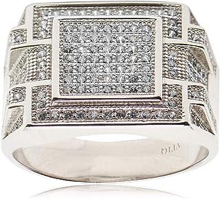 Atiq Womens 925 Sterling Silver Fashion Ring - RH0208-SR-11, Color Silver, Size 11