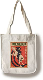 Lantern Press France - Paris - Montpellier - (Artist: WIM c. 1906) - Vintage Advertisement (100% Cotton Tote Bag - Reusable)