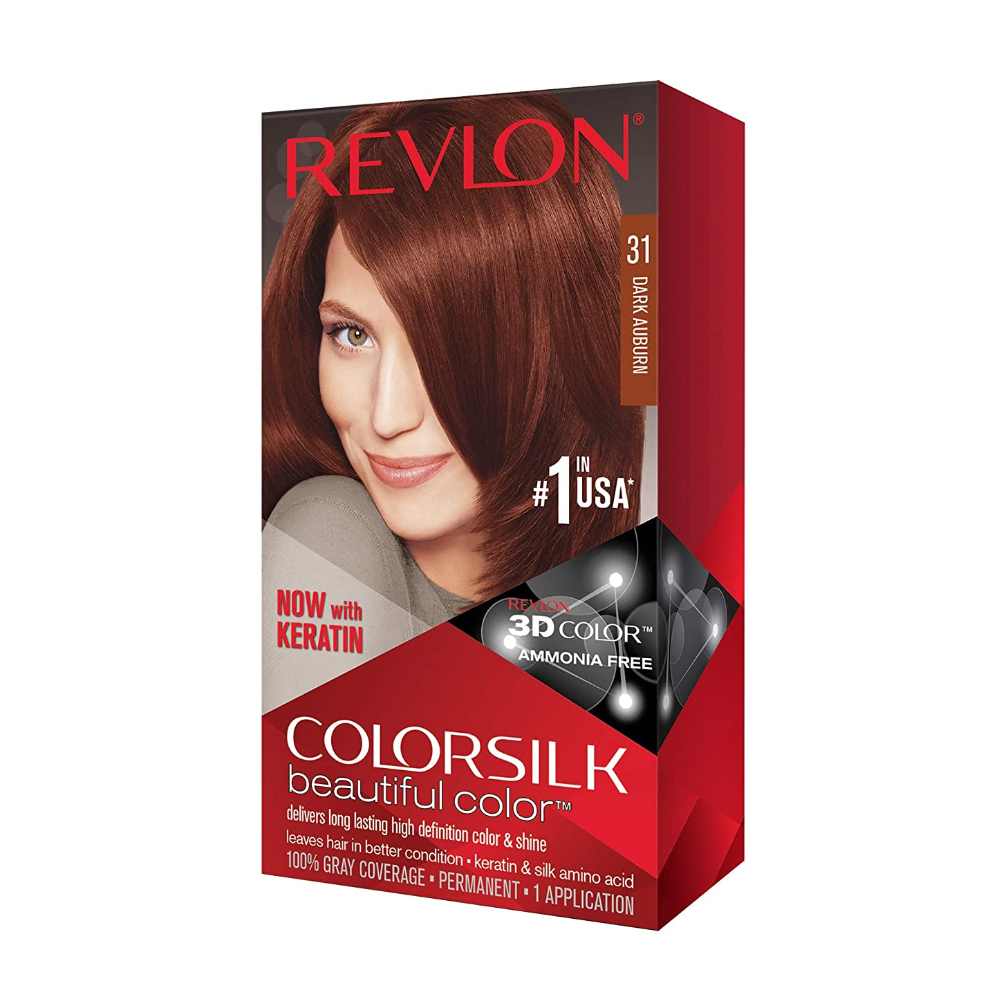 Revlon ColorSilk Hair Color, [31] Dark Auburn 1 ea
