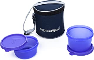 Signoraware Executive Small Lunch Box with Bag, 15cm, Violet