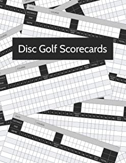 Disc Golf Scorecard: Score Record Keeper and Journal for Disc Golf Course | Frisbee Golf Score Sheet | Score Keeper for Frolf | 200 Rounds | Large Print 8.5 x 11 - 100 Pages