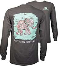 Southern Couture SC Classic Paisley The Elephant on Longsleeve Youth Classic Fit T-Shirt - Charcoal