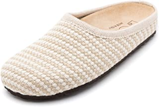 Le Clare Nebraska Women's Italian Braided Hemp Clog House Slippers with Arch Support Cork Insole Indoor Outdoor Sole