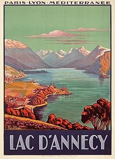 Lac d'Annecy (artist: Julien, Jean) France c. 1925 - Vintage Advertisement 65167 (12x18 SIGNED Print Master Art Print - Wall Decor Poster)