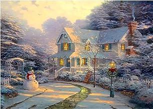 DIY 5D Diamond Painting Kit for Adults Children Beginners Snowman Tree Santa Pattern Round Full Drill Diamond Painting Emb...