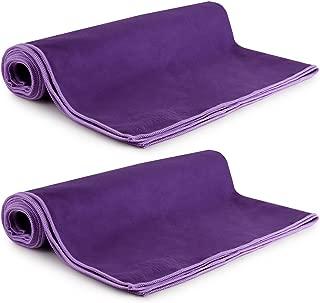 MEGALOVEMART Suede Microfiber Gym Sport Towel, 2 Pack
