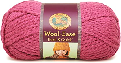 Lion 640-112 Wool-Ease Thick & Quick Yarn , 97 Meters, Raspberry